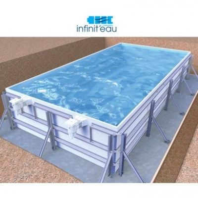 Kit piscine la piscine en kit en b ton polystyr ne panneau for Piscine en kit enterree