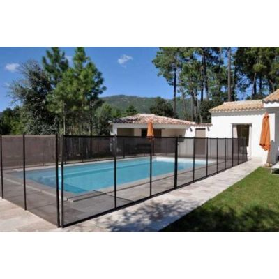 Cl ture piscine et barri re filet ou transparente for Barriere de piscine amovible