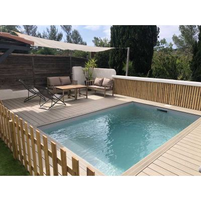 Kit mini piscine petite piscine for Coque piscine 3x3