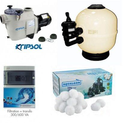 kit filtration piscine luxe distripool. Black Bedroom Furniture Sets. Home Design Ideas