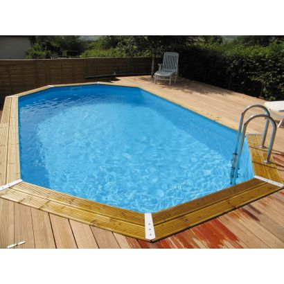 Piscine Bois Ocea Allongee Distripool