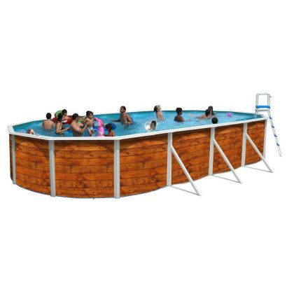 Piscine hors sol ovale etnica distripool for Piscine enterrable