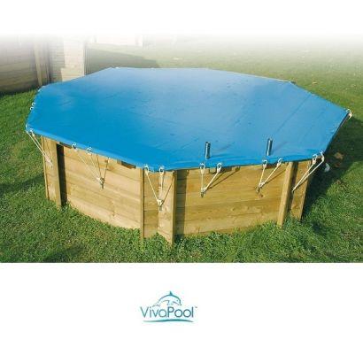 B che d 39 hiver piscine bois viva pool distripool for Bache piscine hiver