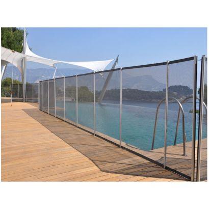 cl ture piscine filet beethoven noir poteaux alu distripool. Black Bedroom Furniture Sets. Home Design Ideas