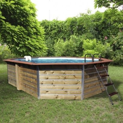 piscine en bois waterclip octogonale distripool. Black Bedroom Furniture Sets. Home Design Ideas