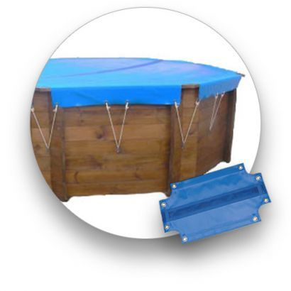 Couverture D Hiver Piscine Bois Ligne Bleue Distripool