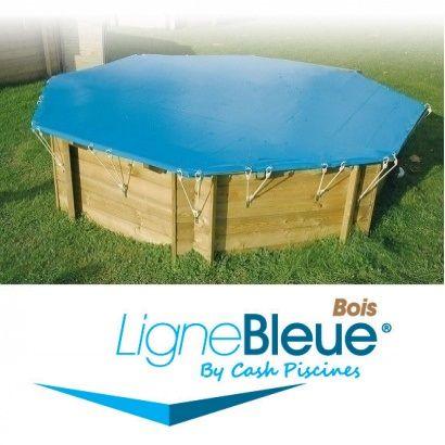 Couverture d 39 hiver piscine bois ligne bleue distripool for Couverture piscine bois