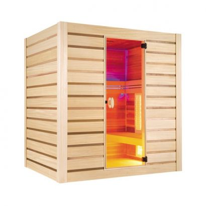Sauna hybrid combi vapeur infrarouge holl 39 s distripool for Sauna vapeur exterieur