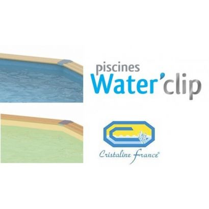 Liner piscine bois waterclip cristaline distripool for Piscine cristaline