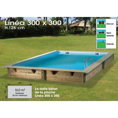 Mini piscine en bois distripool for Mini piscine bois