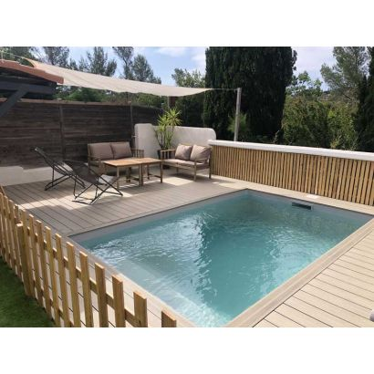 Petite piscine polystyr ne 10m2 distripool for Piscine semi enterree 10m2