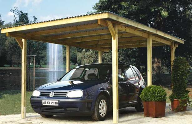 Carport bois garage primus primus duo weka for Abri garage bois