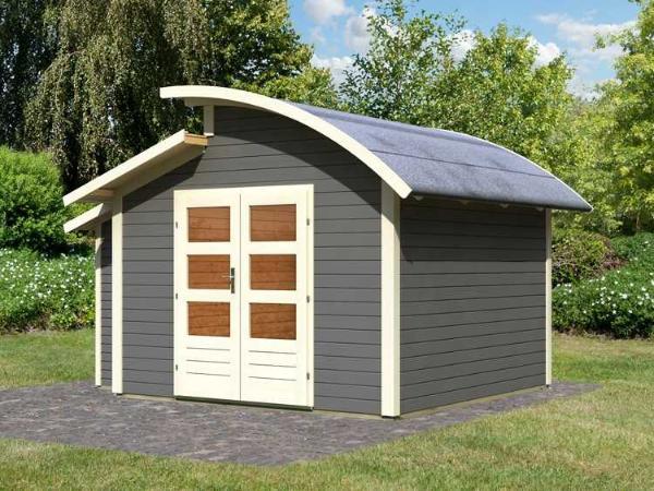 Abri de jardin almelo karibu - Gartenhaus mit tonnendach ...