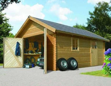 Carport bois garage 40 mm karibu - Garage ouvert ...