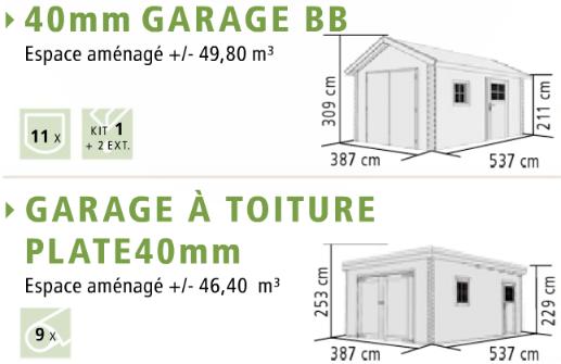 carport bois garage 40 mm karibu. Black Bedroom Furniture Sets. Home Design Ideas