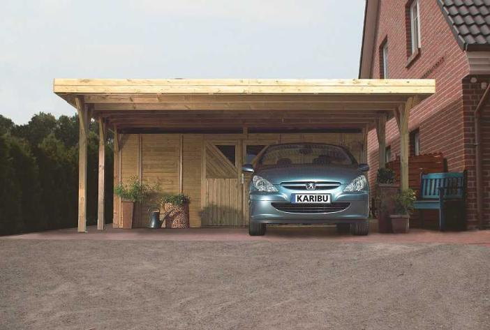 Carport Double Avec Option Atelier Distripool