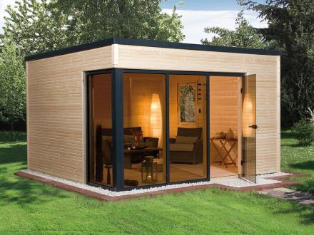 Abri de jardin en bois cubilis design taille 1 et 2 weka for Prix abri de jardin