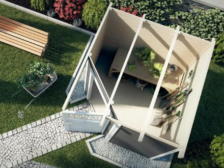 abri jardin en bois quinta weka. Black Bedroom Furniture Sets. Home Design Ideas