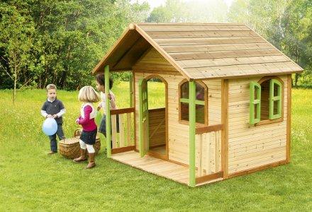 Cabane pour enfant en bois milan axi for Maison pour enfant jardin