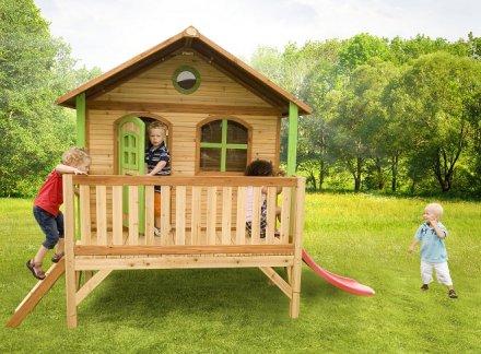 Cabane pour enfant en bois stef axi for Cabane jardin solde