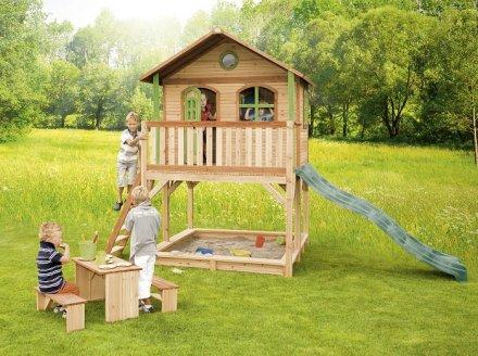 Cabane pour enfant en bois marc axi for Cabane jardin solde