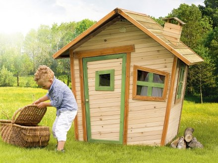 Cabane pour enfant en bois alice axi for Balancoire pour petit jardin