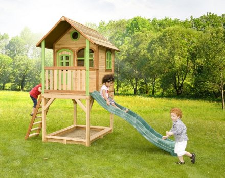 Cabane pour enfant en bois sarah axi for Cabane jardin solde