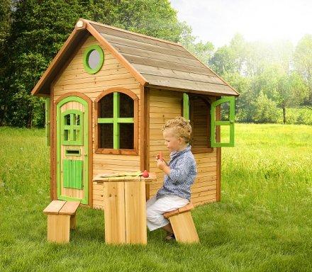 Cabane pour enfant en bois julia axi - Construire cabane jardin bois amiens ...