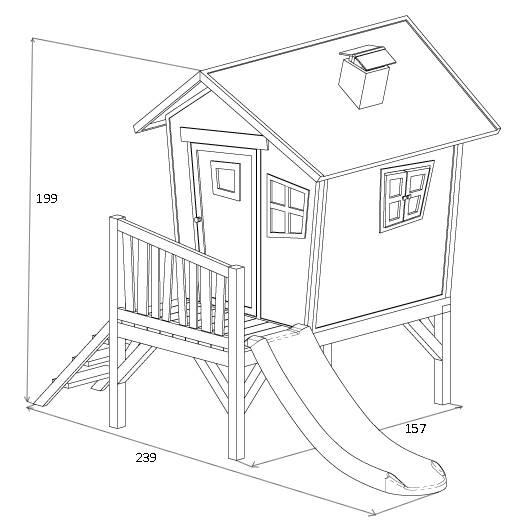 cabane pour enfant ROBIN dimensions 2