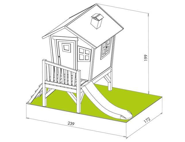 cabane pour enfant ROBIN dimensions