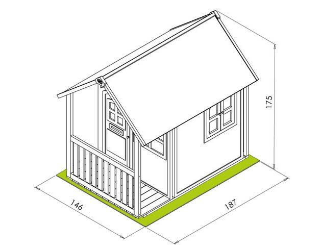 Cabane pour enfant en bois alex axi for Plan de maison pour enfant