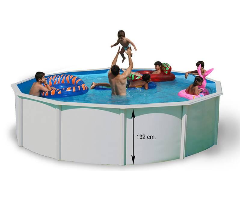 Piscine hors sol ronde magnum distripool for Echelle piscine hors sol pvc
