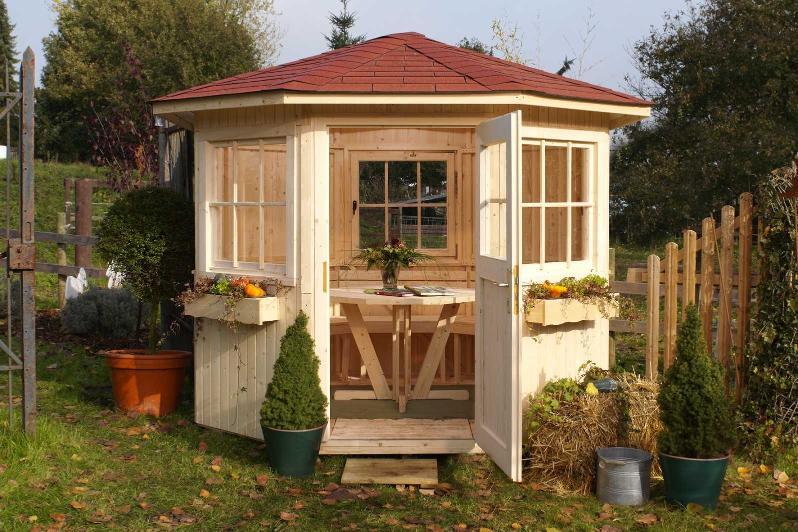 Pavillon de jardin en bois sylt weka for Pavillon en bois pour jardin