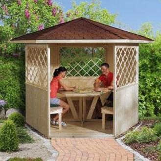 Pavillon de jardin en bois \