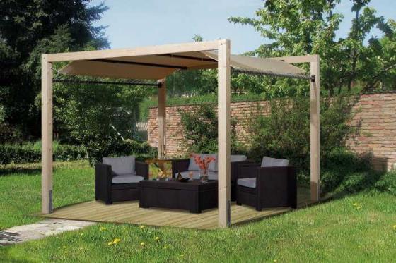 tonnelle de jardin siesta avec auvent weka. Black Bedroom Furniture Sets. Home Design Ideas