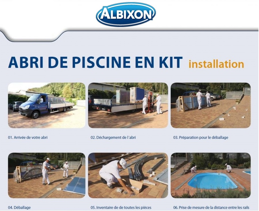 Abri piscine klasik distripool for Installation piscine