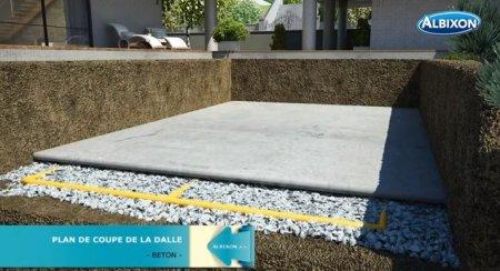 Piscine coque ronde albistone by albixon albixon for Drainage piscine