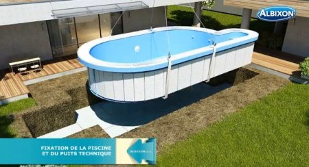 Piscine coque ronde albistone by albixon albixon for Piscine hors sol coque rigide