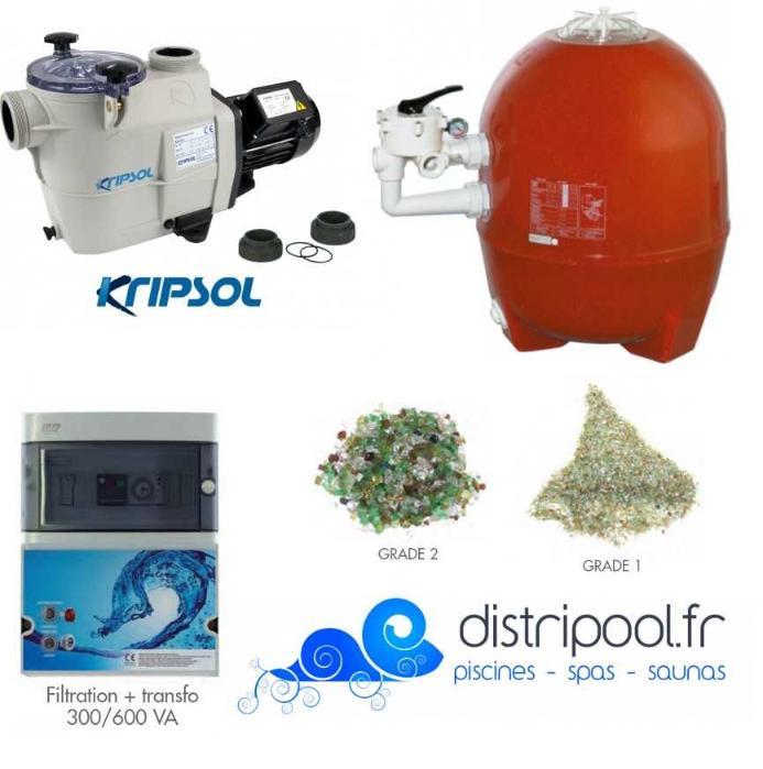 Kit filtration piscine prestige distripool for Kit filtration piscine