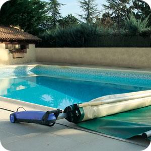 Enrouleur automatique b che barres roll trot for Enrouleur bache piscine rolltrot