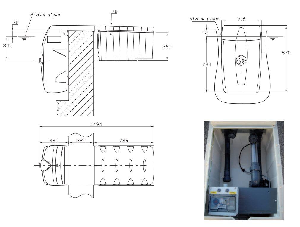 dimensions filtration MX18 filtrinov