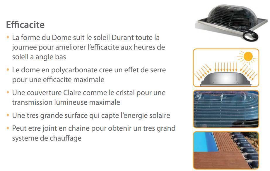 Chauffage solaire pour piscine hors sol big dome for Chauffage solaire dome pour piscine