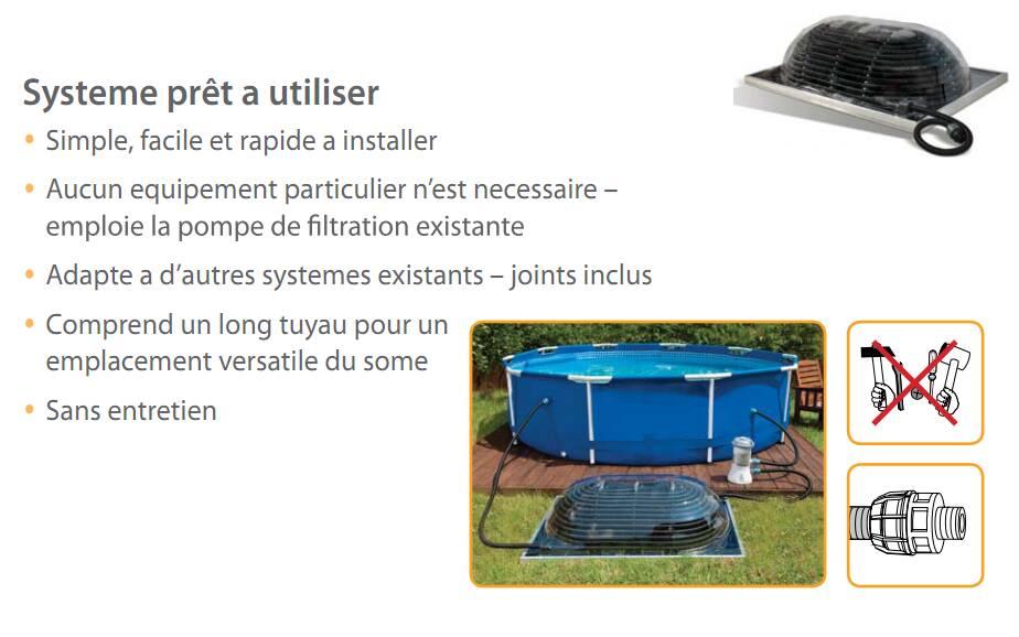 chauffage solaire pour piscine hors sol big dome. Black Bedroom Furniture Sets. Home Design Ideas