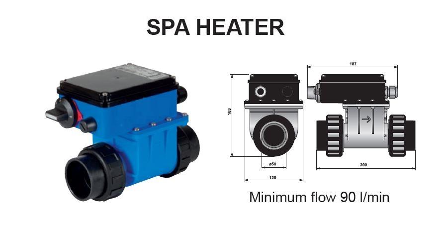 R chauffeur lectrique piscine et spa 3 kw for Chauffage piscine electrique occasion