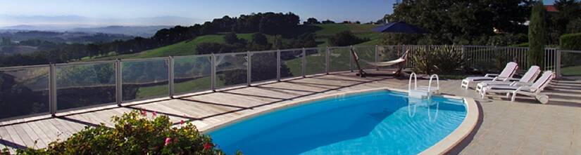 Cloture piscine transparente en verre 6 mm sp01 for Cloture piscine verre