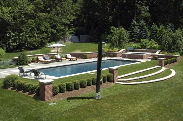 Douche solaire design sol p3 - Douche de piscine solaire ...