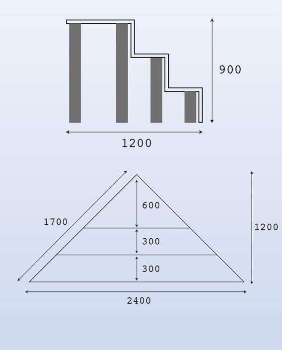 Escalier d 39 angle piscine acrylique sur liner distripool for Marche d angle calcul