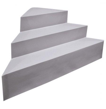 Escalier d 39 angle piscine acrylique sur liner distripool for Marche pied piscine hors sol