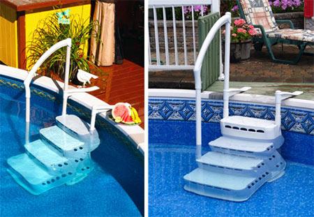 Escalier piscine hors sol aquarius pvc 5010 for Escalier piscine amovible