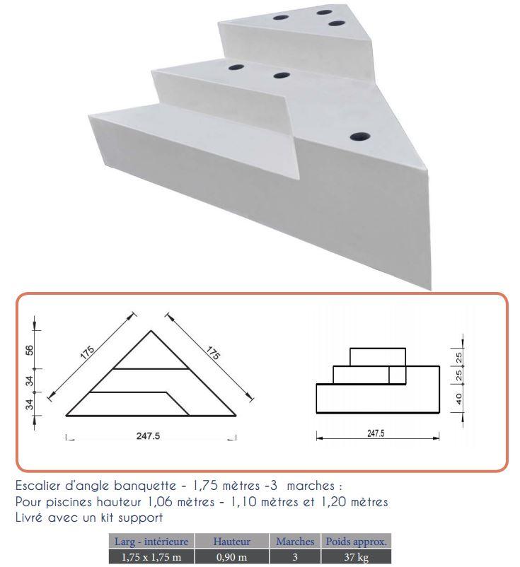 Escalier int rieur d 39 angle sous liner distripool - Hauteur sous escalier ...